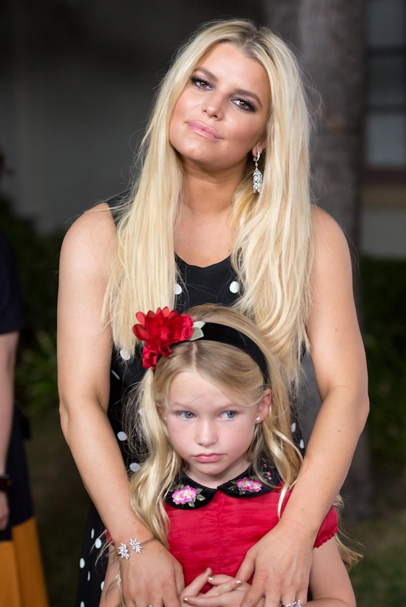 Simpson and daughter, Maxwell, in 2017.