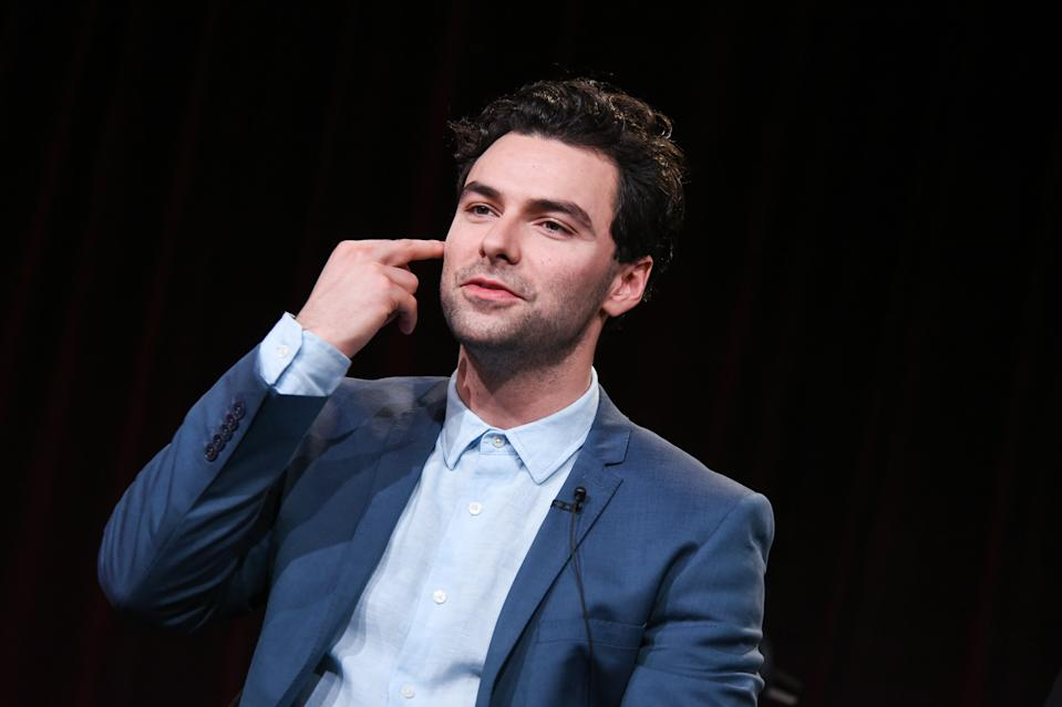 Aidan Turner speaks on stage during the Masterpiece