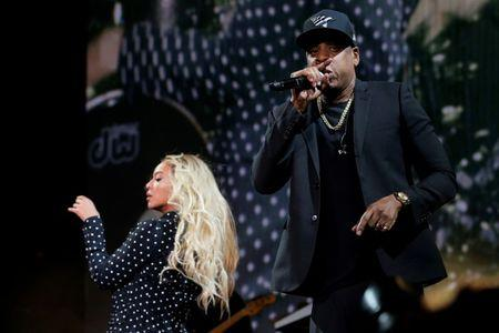 FILE PHOTO - Beyonce and Jay-Z perform at a campaign concert for U.S. Democratic presidential nominee Hillary Clinton in Cleveland, Ohio, U.S. on November 4, 2016.  REUTERS/Brian Snyder/File Photo