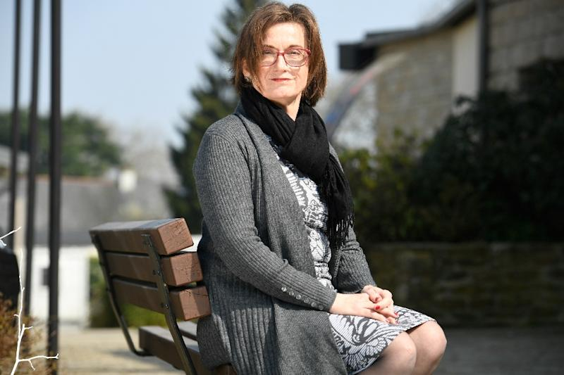 Sandra Sheward of Britain sits on the local council in Saint-Caradec, western France. (AFP Photo/Fred TANNEAU)