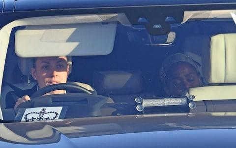Meghan Markle's mother, Doria Ragland, is driven to the evening reception - Credit: Steve Finn for The Telegraph
