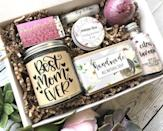 """<p><strong>weddingsandfavors</strong></p><p>etsy.com</p><p><strong>$45.00</strong></p><p><a href=""""https://go.redirectingat.com?id=74968X1596630&url=https%3A%2F%2Fwww.etsy.com%2Flisting%2F670696972%2Fgift-for-mom-best-mom-ever-gift-box&sref=https%3A%2F%2Fwww.countryliving.com%2Fshopping%2Fgifts%2Fg31701949%2Fbirthday-gifts-for-mom-1584460668%2F"""" rel=""""nofollow noopener"""" target=""""_blank"""" data-ylk=""""slk:Shop Now"""" class=""""link rapid-noclick-resp"""">Shop Now</a></p><p>What mom doesn't appreciate being called the """"best ever?"""" This sweet gift set will let her bask in the sentiment every single day.</p>"""