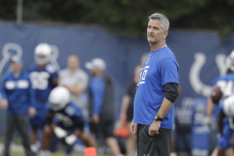 Indianapolis Colts head coach Frank Reich spoke about doing his part to fight racial injustice. (AP Photo/Darron Cummings)