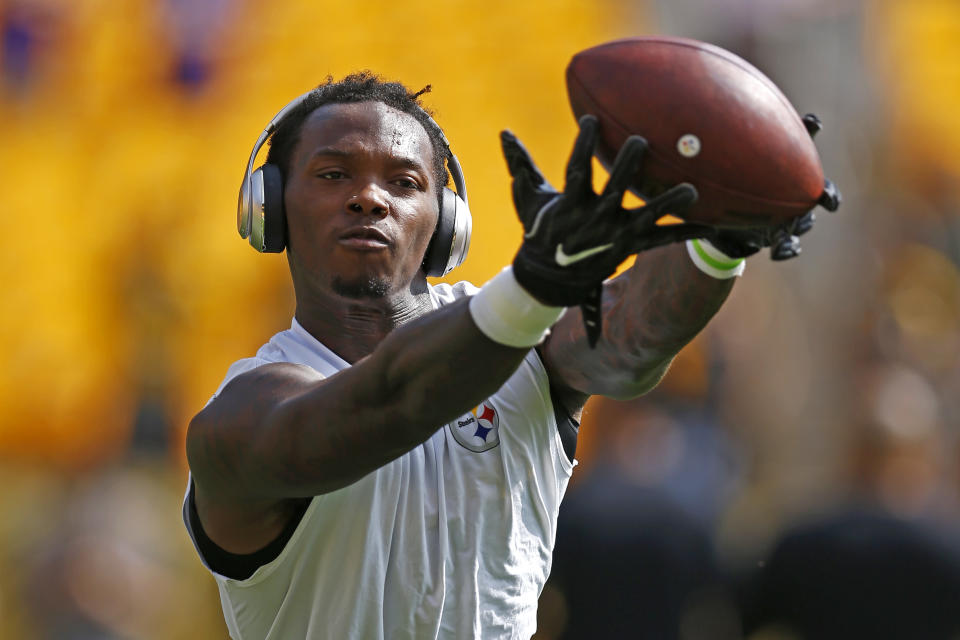 Martavis Bryant is still serving an indefinite NFL suspension, his third since joining the league in 2014. (AP Photo/Keith Srakocic)