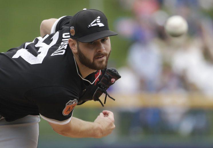 Lucas Giolito had everything going during Thursday's game. (AP Photo)