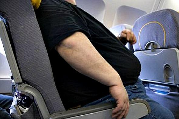 Grandmother stands for entire flight as passenger next to her too fat for seat