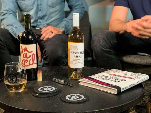 PHOTO: The Wednesday Rose label and 'I'm a red, duh' wines were inspired by the iconic movie 'Mean Girls.' (Nocking Point Wines)