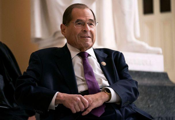 PHOTO: House Judiciary Committee Chairman Jerrold Nadler prepares for a television news interview at the Capitol in Washington, D.Cl, July 26, 2019. (J. Scott Applewhite/AP, FILE)
