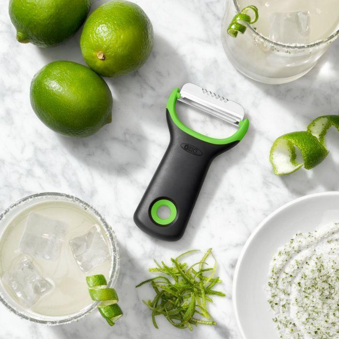 """I also love my basic $8 <a href=""https://www.oxo.com/oxo-citrus-peeler.html"" target=""_blank"" rel=""noopener noreferrer"">OXO Good Grips citrus prep peeler and zester</a>,"" Reis said.<br /><br /><strong><a href=""https://amzn.to/3vsvOko"" target=""_blank"" rel=""noopener noreferrer"">Get the OXO Good Grips citrus prep peeler and zester for $7.99</a></strong>"