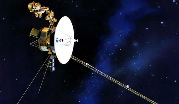The Voyager 1 spacecraft.