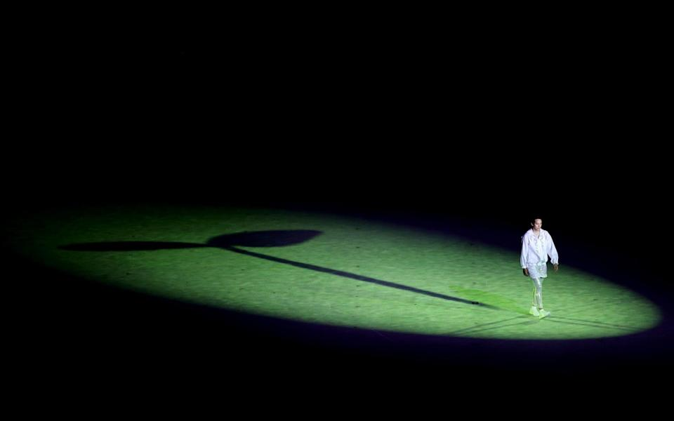 A performer is seen acting during the Opening Ceremony of the Tokyo 2020 Olympic Games at Olympic Stadium on July 23, 2021 in Tokyo, Japan - Clive Brunskill/Getty Images