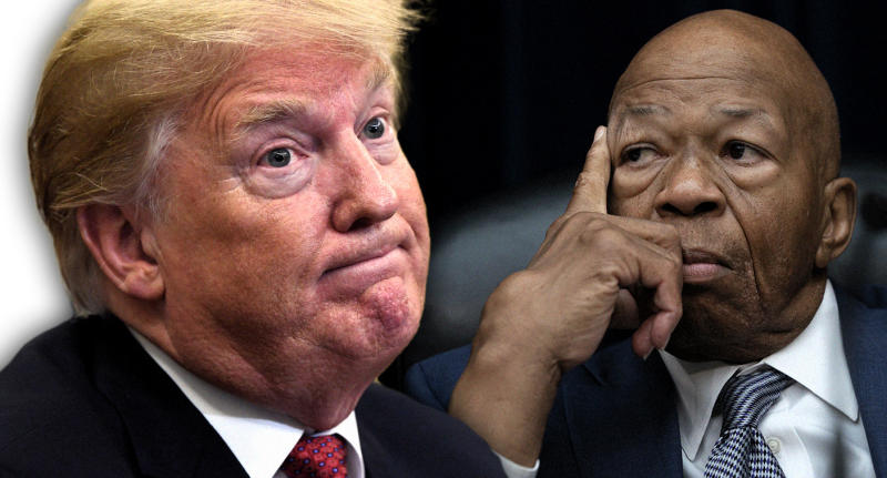 President Trump and Rep. Elijah Cummings. (Photo illustration: Yahoo News; photos: AP, J. Scott Applewhite/AP)