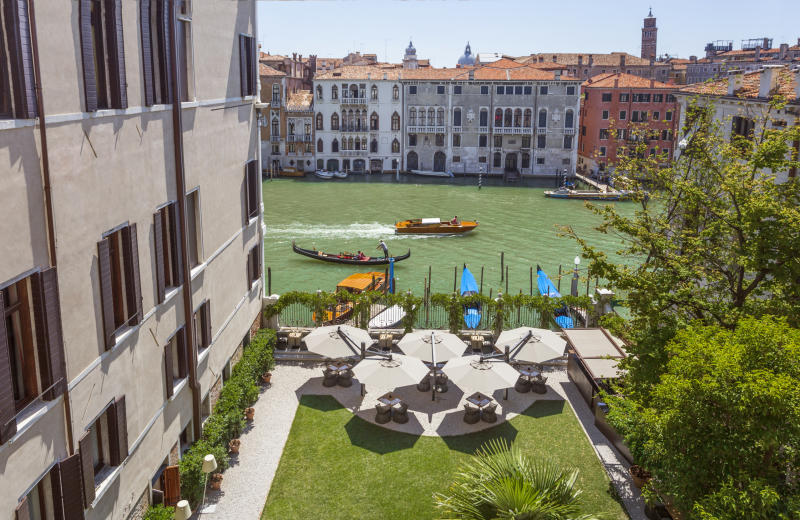Aman Venice, Italy - Rear Garden and Canal. (PHOTO: Aman Venice)