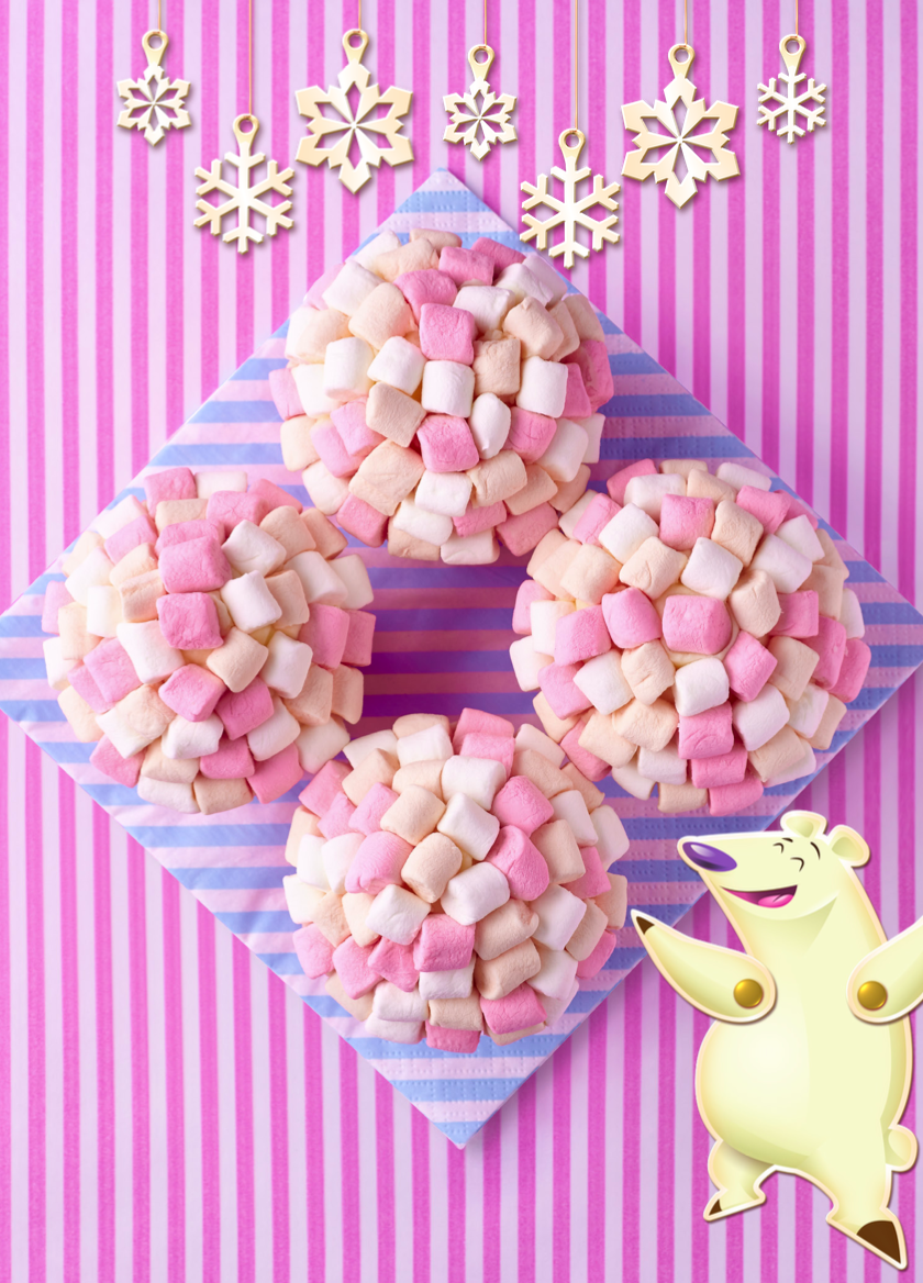 Delicious Drift Igloo Cupcakes are featured in the Candy Crush Cakes & Bakes Recipe Book. (Photo: Candy Crush)