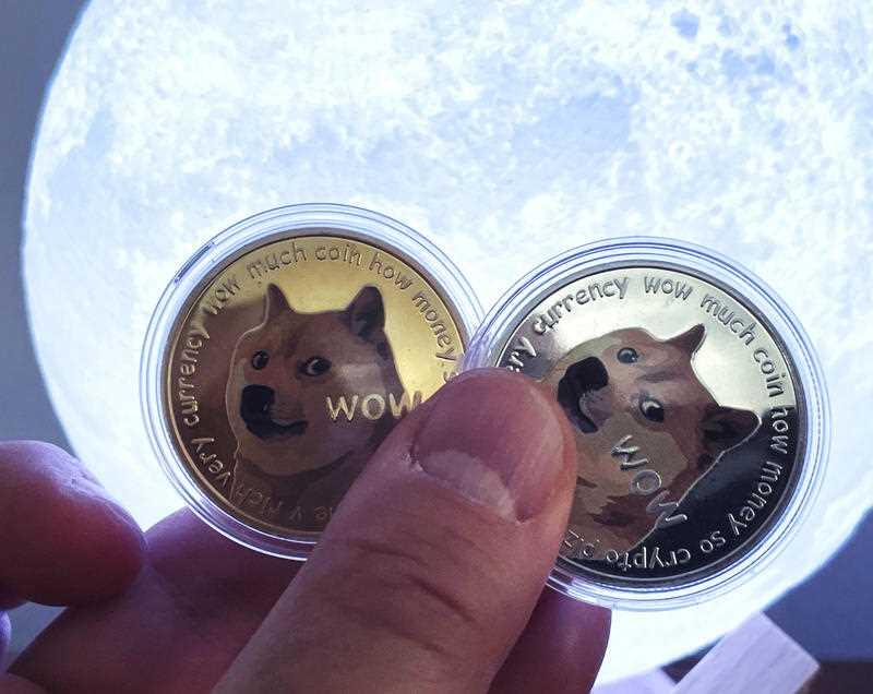 Dogecoin is pictured.