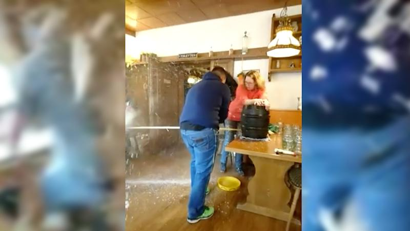 Don't try this at home. Video still from Facebook