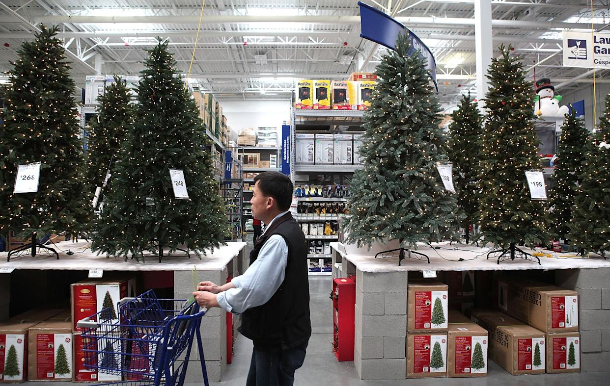 "More than <a href=""http://www.realchristmastrees.org/dnn/Education/Fake-Trees"" rel=""nofollow noopener"" target=""_blank"" data-ylk=""slk:85 percent"" class=""link rapid-noclick-resp"">85 percent</a>&nbsp;of artificial Christmas trees in the U.S. are imported from China, significantly enlarging their carbon footprint.<br><br>If you're opting for a fake tree, aim to buy one with a ""Made In USA"" label.&nbsp;"
