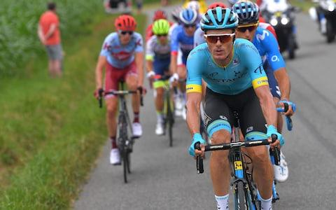 <span>The breakaway is led by Luis León Sánchez </span> <span>Credit: GETTY IMAGES </span>