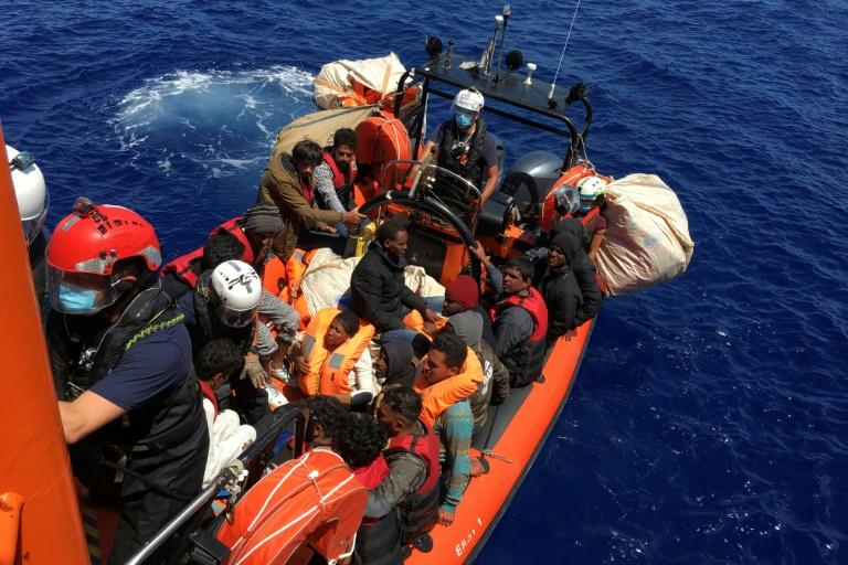 """""""I could die out here at sea, but at least I have a slim chance of making it,"""" says Hafiz, a 30-year-old Eritrean"""