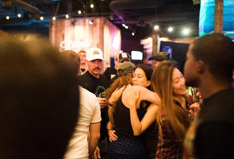 Little is known about the motive of Stephen Paddock, who killed 58 people and wounded nearly 500 when he rained thousands of rounds into a crowd at a country music festival in Las Vegas (AFP Photo/Robyn Beck)