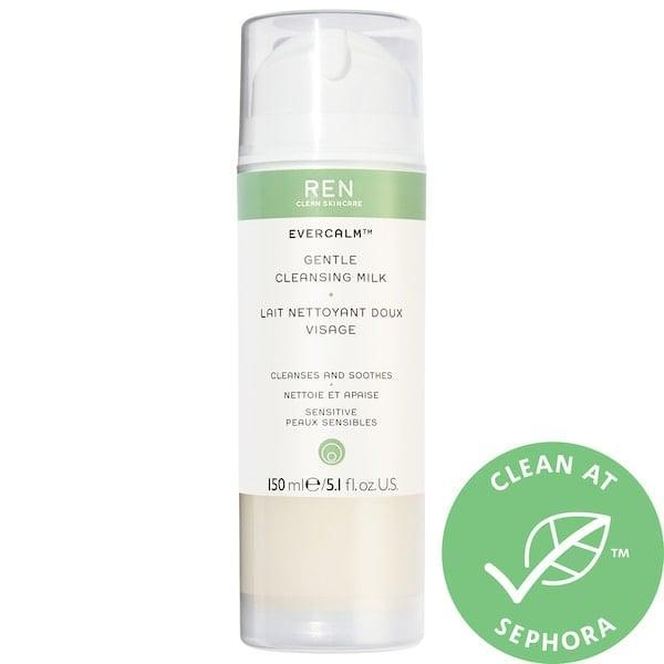 <p>If your skin is reactive, this <span>Ren Clean Skincare Evercalm Gentle Cleansing Milk</span> ($32) soothes with omegas, calendula oil, and fennel seed extract. It also helps skin show less signs of irritation moving forward and, of course, there's no synthetic fragrance there either.</p>