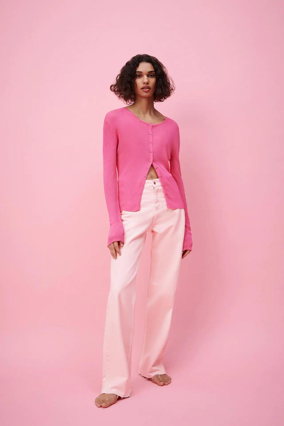 <p>Colored denim will be a big trend this season, and the light pink shade of these <span>Zara ZW the Trevor Jeans</span> ($50) is so pretty. Pair them with a classic white tee or a printed blouse.</p>