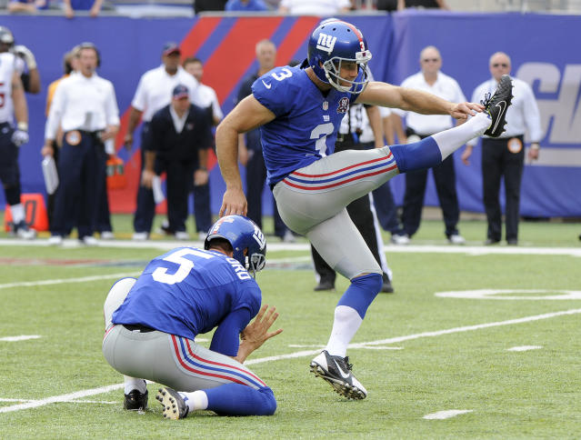 Former Giants kicker Josh Brown was suspended six more games by the NFL. (AP)