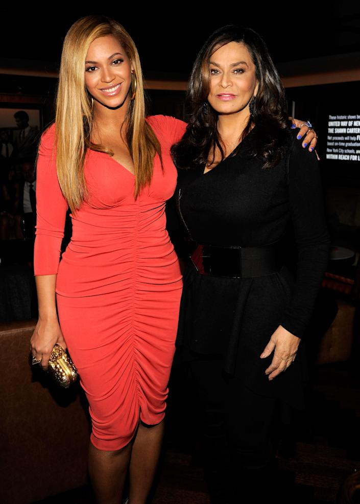 NEW YORK, NY - FEBRUARY 06:  (EXCLUSIVE COVERAGE) Beyonce and Tina Knowles attend the after party following Jay-Z's concert at Carnegie Hall to benefit The United Way Of New York City and the Shawn Carter Foundation at the 40 / 40 Club on February 6, 2012 in New York City.  (Photo by Kevin Mazur/Getty Images)