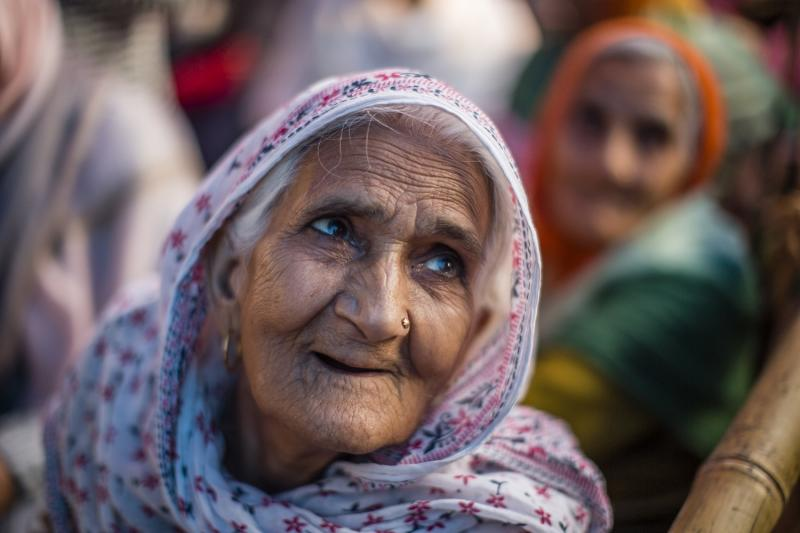 NEW DELHI, INDIA - FEBRUARY 22: Protester Bilkis Dadi takes part in a protest demonstration at the protest site at Shaheen Bagh area on February 22, 2020in Shaheen Bagh area of Delhi, India. The Muslim-majority locality in Indias national capital has been in the spotlight for over past two months as hundreds of women have blocked a road over the controversial Citizenship Amendment Act (CAA), which triggered protests across India over fears that the law combined with the proposed National Register of Citizens (NRC) will be used by the Hindu nationalist Bharatiya Janata Party (BJP) government to strip Indian Muslims of citizenship. On Saturday, the protestors vacated a stretch of the road after a Supreme Court-appointed interlocutor visited the protest site and assured to place their demands before Indias apex court, Indian media reported. (Photo by Yawar Nazir/ Getty Images)