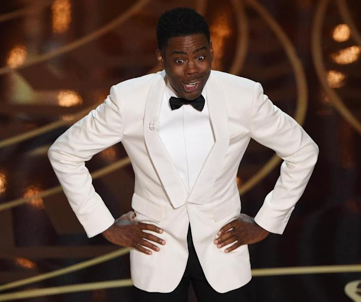 The lack of ethnic minority nominees at this year's Oscars, hosted by actor Chris Rock, was the subject of a social media campaign under the hashtag #OscarsSoWhite (AFP Photo/Mark Ralston)
