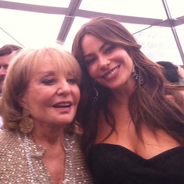 Barbara Walters and Sofia Vergara #whcd.
