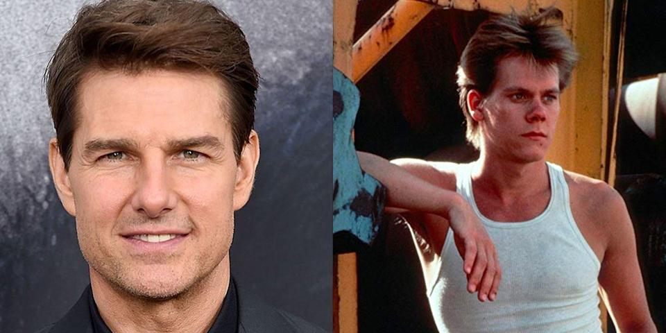 "<p>Instead of Kevin Bacon, it could have been Tom Cruise getting down in <em>Footloose</em>. The actor who had already starred in <em>Top Gun </em>and <em>Risky Business</em> was approached for the role before Bacon, but he <a href=""https://www.thechronicle.com.au/news/footloose-wanted-two-other-big-names-before-kevin-/3644104/"" rel=""nofollow noopener"" target=""_blank"" data-ylk=""slk:had scheduling conflicts"" class=""link rapid-noclick-resp"">had scheduling conflicts</a> as he was committed to <em>All the Right Moves</em>. </p>"