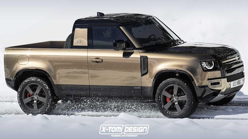 Land Rover Defender Pickup Truck rendering