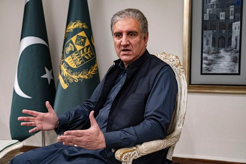 Pakistan's foreign minister said he had received assurances from the Afghan Taliban that they would not stage terror attacks on Pakistan from Afghanistan (Bel Trew)