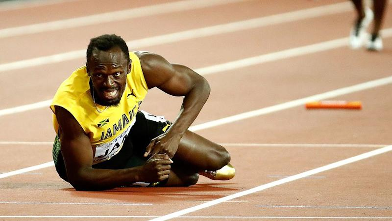 Bolt looks on in horror. Pic: Getty