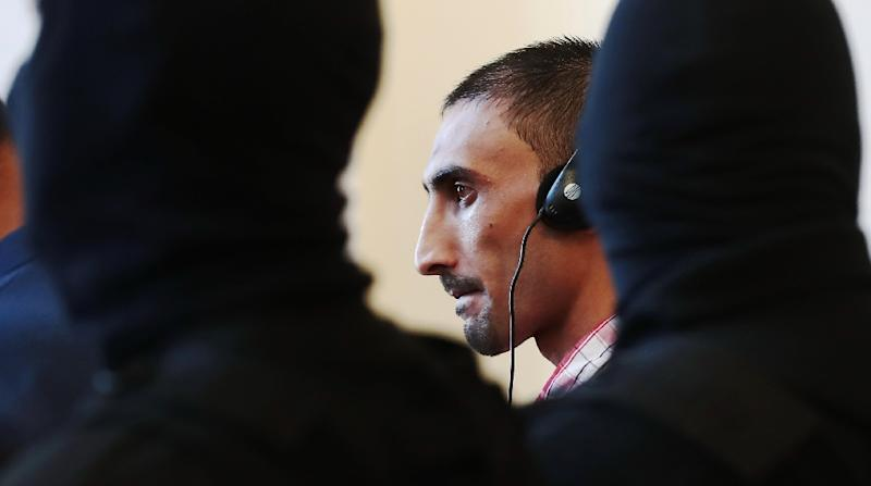 Samsoor Lahoo is the ringleader of the gang convicted over the grisly deaths of 71 migrants who suffocated in a truck found abandoned in Austria (AFP Photo/FERENC ISZA)