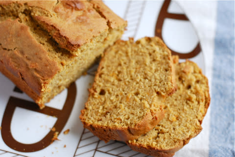 """<div class=""""caption-credit""""> Photo by: Brooklyn Supper</div><div class=""""caption-title"""">Sweet Potato Quick Bread</div>Sweet potatoes make for a surprisingly silky and moist quick bread. <br> <i><a rel=""""nofollow"""" href=""""http://blogs.babble.com/family-kitchen/2012/11/04/spiced-sweet-potato-quick-bread/"""" target=""""_blank"""">Make sweet potato quick bread</a></i> <br> <b><i><a rel=""""nofollow"""" href=""""http://blogs.babble.com/family-kitchen/2012/11/12/family-kitchen-favorites-21-tasty-ways-to-enjoy-sweet-potatoes/?cmp=ELP bbl lp YahooShine Main  100112   famE   """">Related: 21 new ways to cook with sweet potatoes</a></i></b> <br>"""
