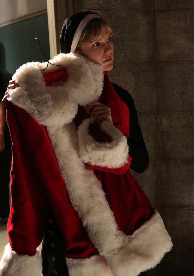 """ily Rabe as Sister Eunice in the """"American Horror Story: Asylum"""" episode, """"Unholy Night."""""""