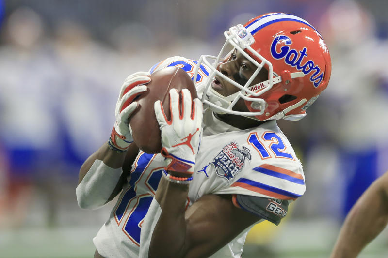 Florida WR Van Jefferson looked the part on Day 1 of the 2020 Senior Bowl. (Photo by David John Griffin/Icon Sportswire via Getty Images)
