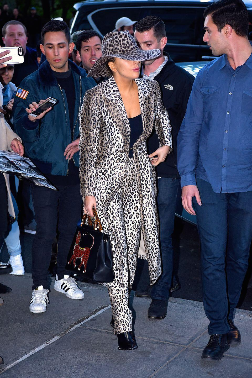 <p>Channeling Shania Twain in New York, 2017.</p>