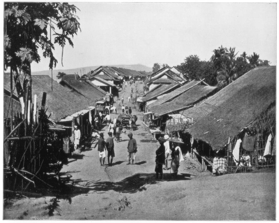 Village near Calcutta, India, late 19th century. Photograph from Portfolio of Photographs, of Famous Scenes, Cities and Paintings by John L Stoddard, published by the Werner Company, (Chicago, c1899). (Photo by The Print Collector/Print Collector/Getty Images)