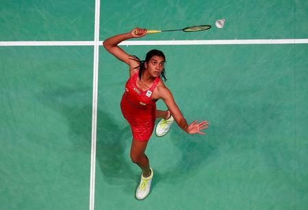 Badminton - Yonex All England Open Badminton Championships - Arena Birmingham, Birmingham, Britain - March 17, 2018 India's Pusarla V. Sindhu in action during the women's singles semi final Action Images via Reuters/Peter Cziborra