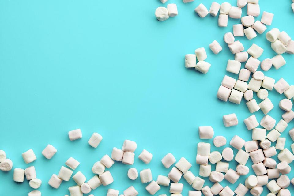 """<p>Like the more well-known """"Chubby Bunny,"""" use all those marshmallows you bought for hot cocoa to see who can say the phrase """"Chubby Santa"""" with the most marshmallows in their mouth. </p><p><a class=""""link rapid-noclick-resp"""" href=""""https://www.amazon.com/Jet-Puffed-Jumbo-Marshmallows-Ounce-Pack/dp/B00JSW59PW?tag=syn-yahoo-20&ascsubtag=%5Bartid%7C10072.g.33643974%5Bsrc%7Cyahoo-us"""" rel=""""nofollow noopener"""" target=""""_blank"""" data-ylk=""""slk:SHOP MARSHMALLOWS"""">SHOP MARSHMALLOWS</a></p>"""