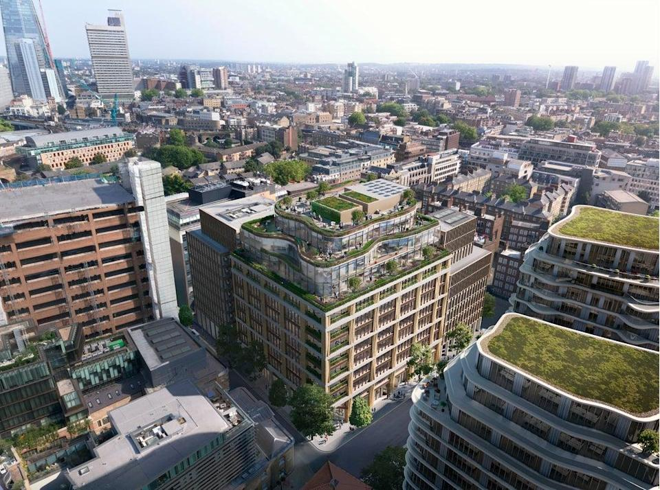 A new office scheme is planned by Barings and a developer (Barings)