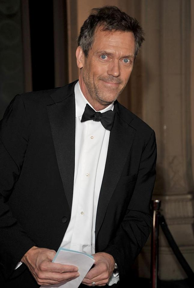 """<a href=""""/hugh-laurie/contributor/34849"""">Hugh Laurie</a> arrives at the 35th Annual People's Choice Awards held at the Shrine Auditorium on January 7, 2009 in Los Angeles, California."""