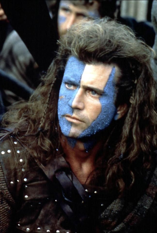 """Character: William Wallace (<a href=""""http://movies.yahoo.com/movie/contributor/1800019113"""">Mel Gibson</a>)   Movie: <a href=""""http://movies.yahoo.com/movie/1800215345/info"""">Braveheart</a>   Reason Why He Is Blue: Because Wallace is an angry Scotsman."""