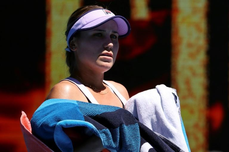 Sofia Kenin admiitted to a few tears during her hard-fought first round win
