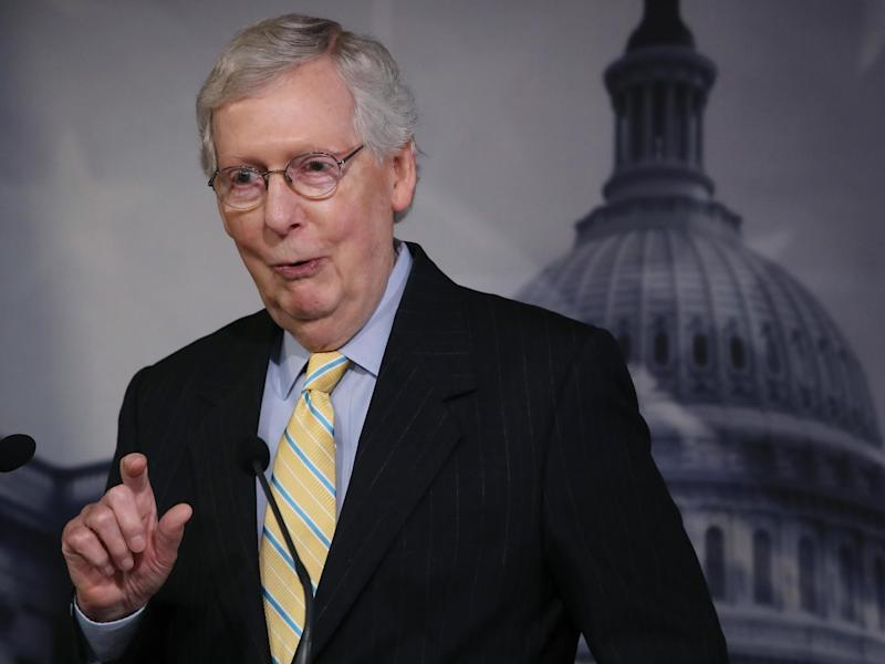 Mitch McConnell said he and America's first African American president had something in common as 'descendants of slave owners': Getty Images