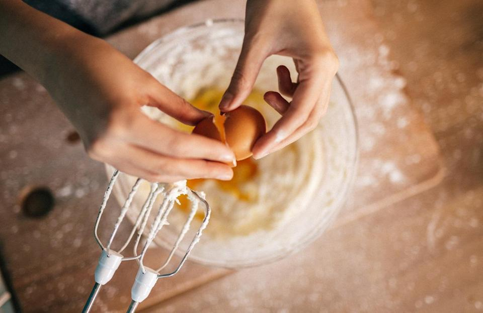 """<p>Baking can be a <a href=""""https://www.theactivetimes.com/home/learn-new-hobby-at-home-guitar-language?referrer=yahoo&category=beauty_food&include_utm=1&utm_medium=referral&utm_source=yahoo&utm_campaign=feed"""" rel=""""nofollow noopener"""" target=""""_blank"""" data-ylk=""""slk:fun new hobby to learn"""" class=""""link rapid-noclick-resp"""">fun new hobby to learn</a>, but it's also a science that's greatly affected by temperature. If your recipe calls for your ingredients to be warm, cool, chilled or room temperature, make sure they are. When not specified, it's best to go with room temperature, as ingredients are then easier to mix together for a uniform consistency.</p>"""