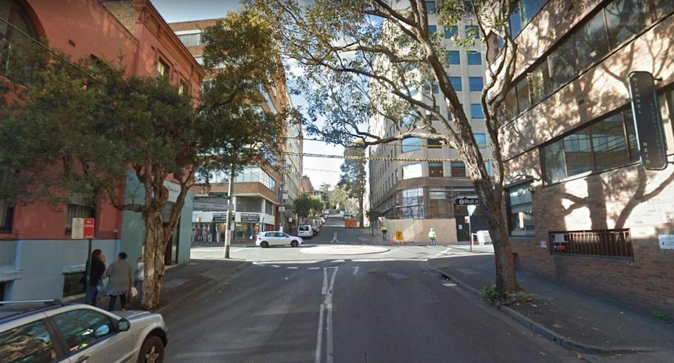 The attack happened in a secluded back street of Surry Hills. Source: Google Maps
